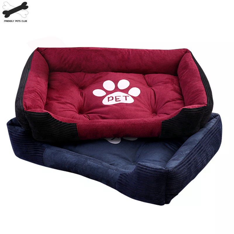 Paw Print Pet Bed Large House For Large Dog Puppy Kennel Waterproof Cat Litter Four Seasons Nest Warm Pet Supplies Bed Linen