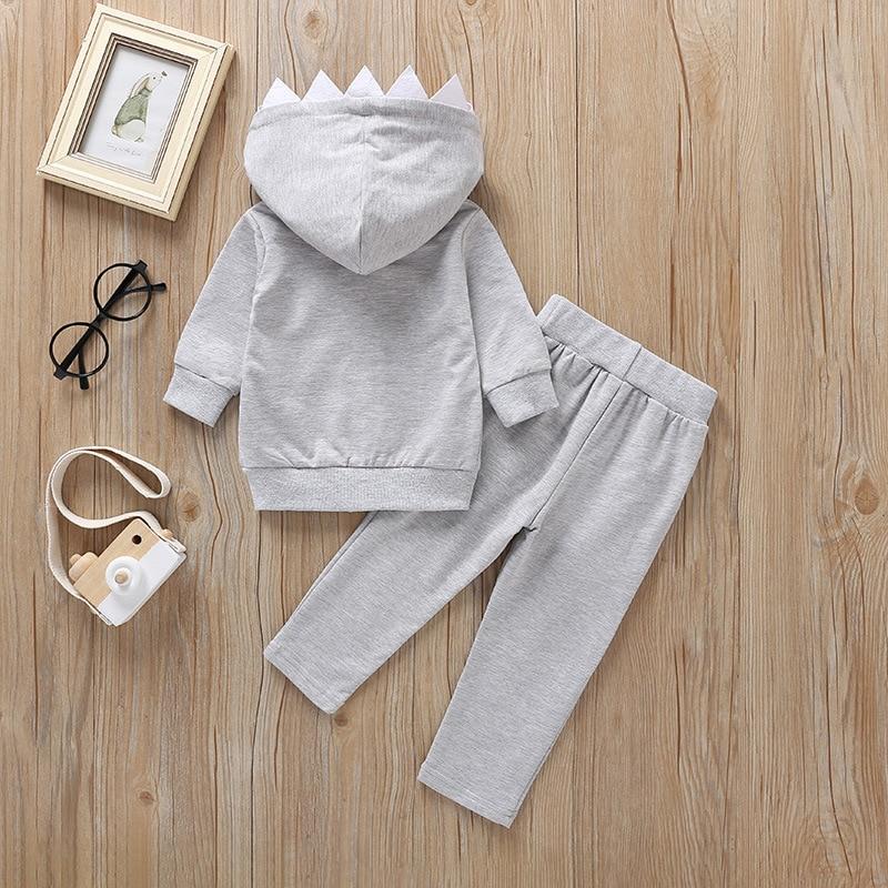 Весенне осенний детский серый свитер с длинными рукавами комплект