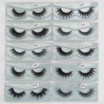 Wholesale 5D Mink Eyelashes 10/30/50/100 Pairs 3D Mink Lashes Bulk Eyelash Extension Natural False Eyelashes Makeup Eye Lashes