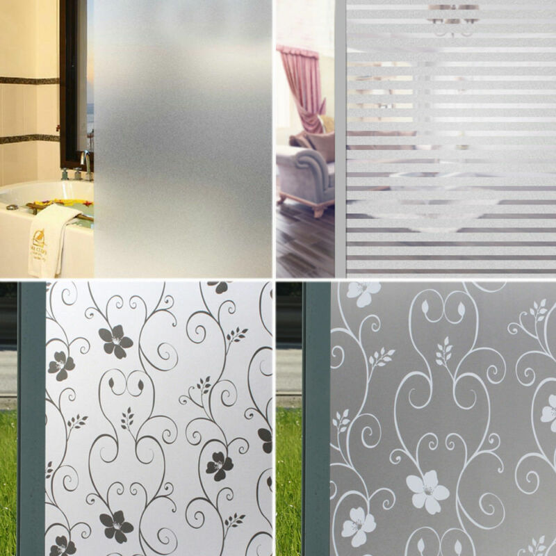 PVC Frosted Sticker Glass Door Stickers Snow Flower Privacy Shower Screen Window Cover Self Adhesive Film Sticker