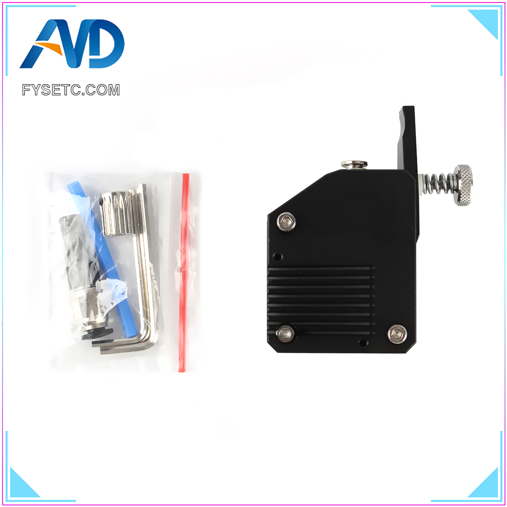 Black BMG All Metal Extruder Right Cloned Btech Bowden Extruder Dual Drive Extruder For Wanhao D9 Creality CR10 Ender 3 Anet E10