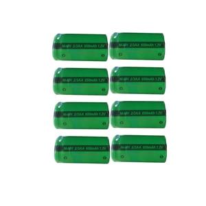 Image 2 - 4/8/20PC PKCELL 2/3AA 650MAH 1.2V NIMH Rechargeable batteries 2/3 aa battery flat top for soldering Shaving razor  solar light