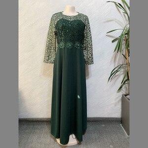 Image 5 - ชุดแอฟริกันผู้หญิง Elegant Maxi Feminino O Neck เอวสูงหวานชุดฤดูใบไม้ผลิสีทึบชุดสตรียาว