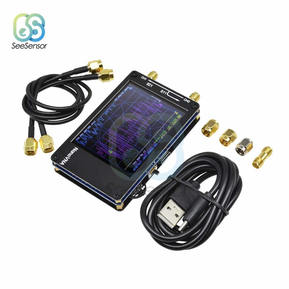 2.8 polegada tft nanovna vector rede analisador de antena digital tela de toque de ondas curtas mf hf vhf uhf 50 khz-900 mhz