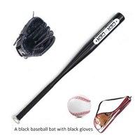 25 inches Oak Aluminum Children's Baseball Set Baseball Rod + Gloves + Baseball
