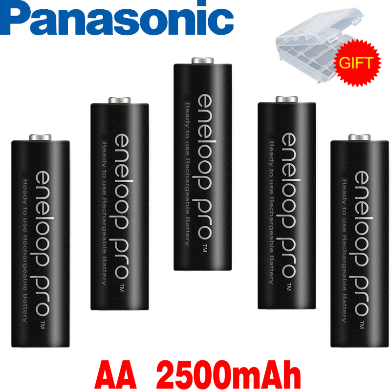 Panasonic Eneloop Original Battery Pro AA  1.2V 2500mAh NI-MH Camera Flashlight Toy Pre-Charged Rechargeable Batteries