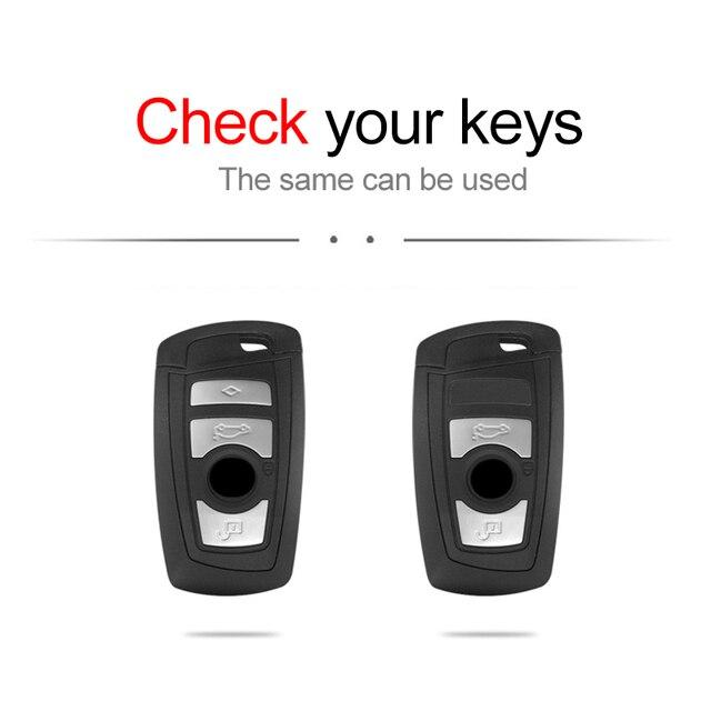 Фото кожаный чехол для автомобильных ключей bmw 1 2 3 4 5 7 series