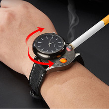 2020 Men's watch quartz Cigarette lighter rechargeable replace heating wire men's gift High quality the male clock F779-1