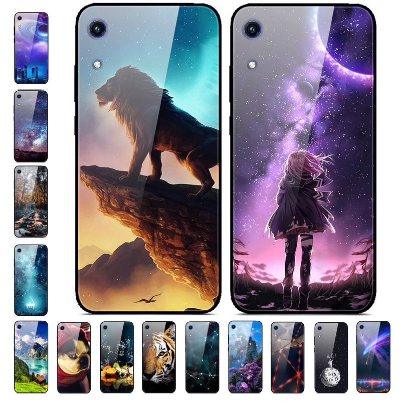 K JAT-LX1 For Huawei Honor 8A 6.09 Inch Case Glass Mirror Hard Phone Case For Huawei Honor 8A Case Cover Honor8A 8 A A8 Tempered