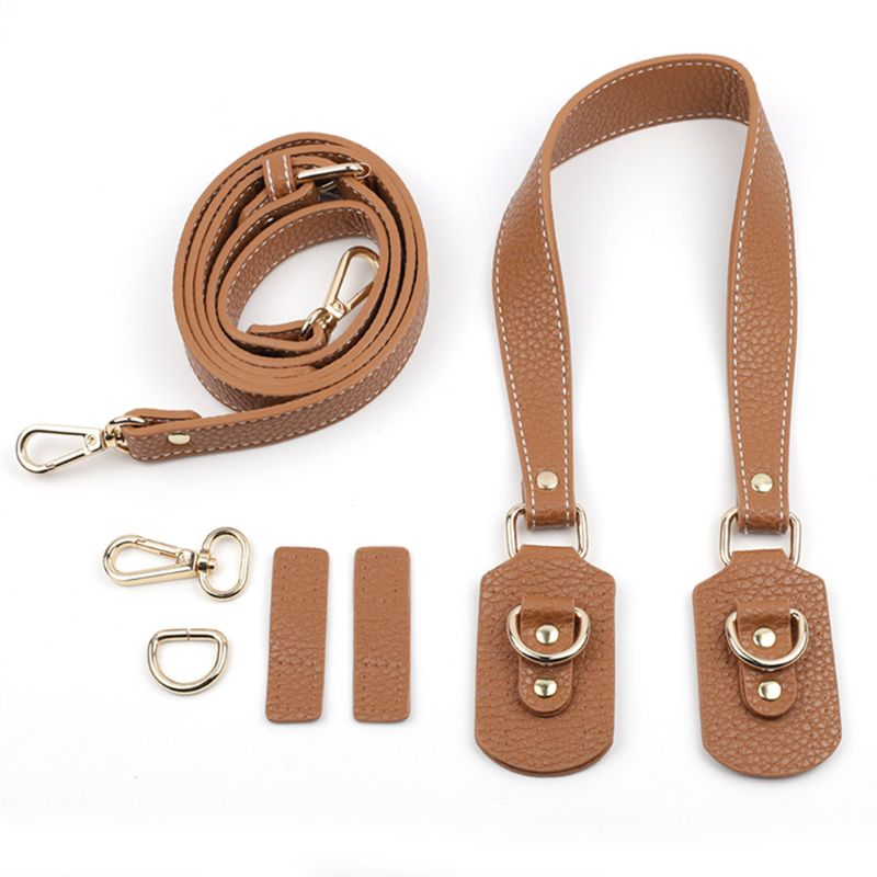 Fashion DIY Leather Handbag Strap Accessories Shoulder Crossbody Replacement Straps with Metal Buckles