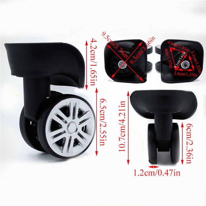 Rodas de bagagem de substituição da moda mudo rodas giratórias de alta qualidade para malas rodízio peças borracha acessórios para sacos