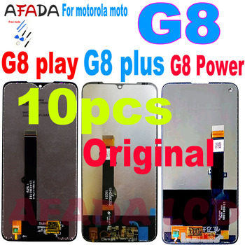 g8 10 Pcs For Motorola Moto G8 Power LCD Display G8 plus XT2019 Touch Screen Sensor Panel Digiziter Assembly G8 Play XT2015 LCD