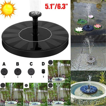 13cm/16cm Floating Solar Fountain Pump Bird Bath Fountain Garden Fountains  Pump Waterfalls 7V Solar Powered Water Pump Kit 7v solar powered fountain water pump connect tube with nozzles solar birdbath fountain pump for garden waterfalls pond fish tank