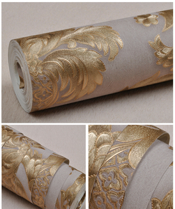 Image 4 - 3D Wallpaper Classic Luxury Damask Roll Embossed PVC Vinyl Wall Paper Home Decor Living Room Bedroom Backdrop Papel De Parede 3D