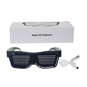 Image 5 - Magic Bluetooth Led Party Glasses APP Control Luminous Glasses EMD DJ Electric Syllables Party Eye Glasses