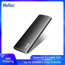Netac externo ssd 500gb 250gb ssd portátil 1tb 2tb ssd disco rígido externo usb 3.2 tipo c unidade de estado sólido externo para o portátil