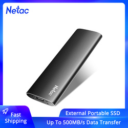 Netac External SSD 500GB 250GB Portable SSD 1TB 2TB SSD External Hard drive USB 3.2 Type C External Solid State Drive For Laptop