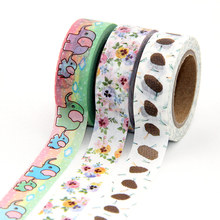 1pcs pink Clubs Flower, birds  Washi Tape Floral Masking Tapes Decorative Stickers tape 10m