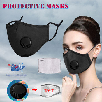 Cosplay Unisex Cotton Mask Dustproof PM2.5 Pollution Half Face Mouth Masks With Breath Gasket Filter Washable Reusable #LR4