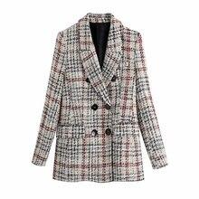 Женский Повседневный клетчатый пиджак новый стиль свободный