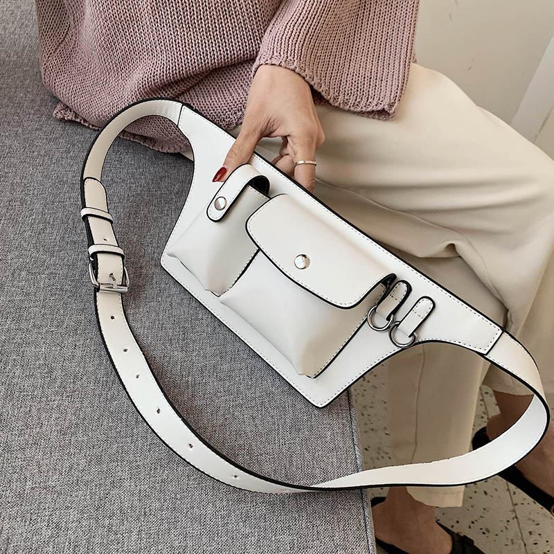 Good Quality PU Leather Fanny Packs For Women 2020 Fashion Waist Packs Female Handbags And Purses Lady Chest Bags