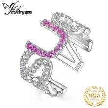 JewelryPalace да U может создан розовый сапфир кольцо стерлингового серебра 925 кольца для женщин ювелирные изделия Штабелируемый партии