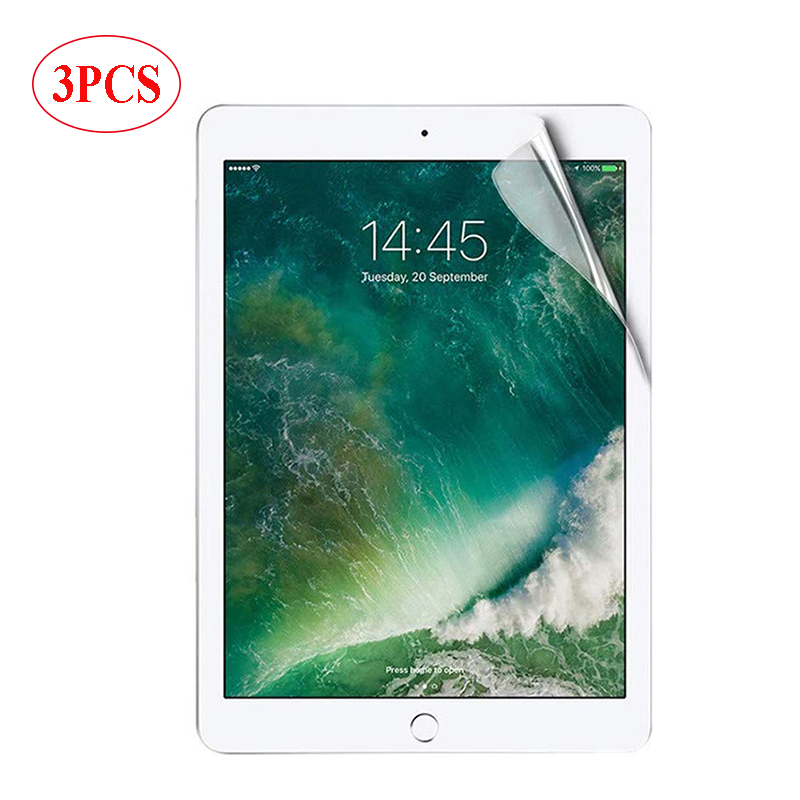 3 PCS PET Soft Protective Film For Ipad Air 3 10.5 PRO 11 2020 9.7 2017 2018 10.2 7 Gen Screen Protector For Ipad Mini 1 2 3 4 5