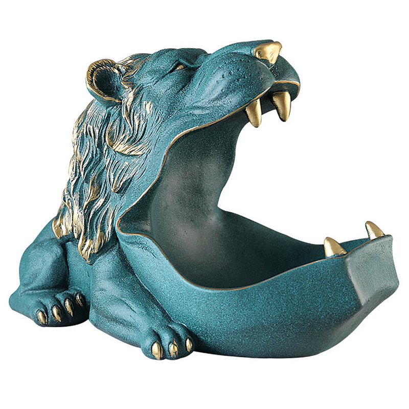 Home Decor,Figurines,Lion,Sculpture,Living Room,Table Decoration,Modern,Multifunction,Desktop,Keys Storage Box,Decorative Statue