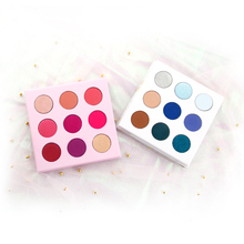 Highly Pigmented 9 Colors Private Label Makeup Pallette Eyeshadow Custom Logo Cardboard Mix Shimmer Matte Cosmetic Eye Shadow