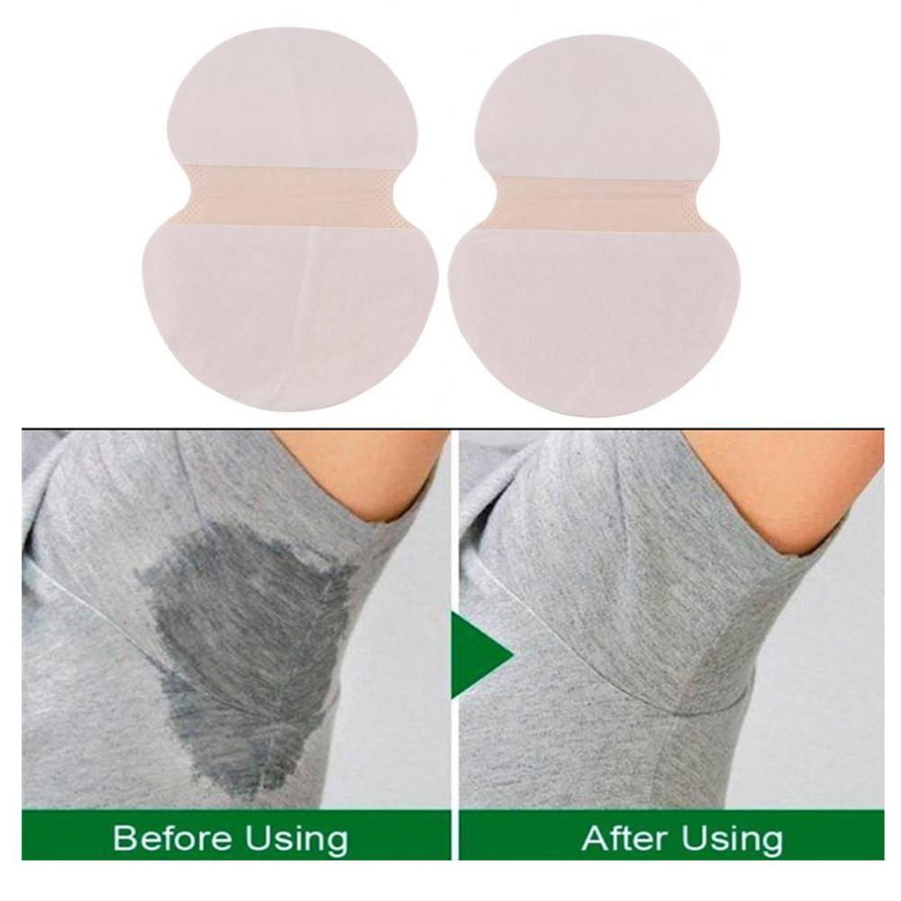 2Pcs/Set Armpits Sweat Pads Disposable Ultra-thin Underarm Sweat-absorbent Deodorant Armpit Patch Absorbing Sweatproof Stickers