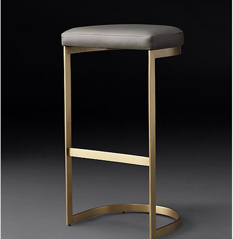 Nordic Bar Stool High Stool Leisure Wrought Iron Bar Chair Simple Modern Restaurant Bar Stool Bar Seat