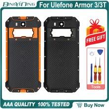 100% novo original para ulefone armadura 3/3t bateria capa de volta caso habitação com nfc sem fio de carregamento da câmera lente do telefone acessório