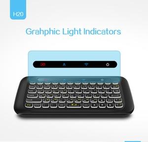 Image 4 - H20 Mini Không Dây Bàn Phím Có Đèn Nền Bàn Di Chuột Chuột Hồng Ngoại Nghiêng Điều Khiển Từ Xa Cho Android BOX Smart TIVI Windows PK H18 plus