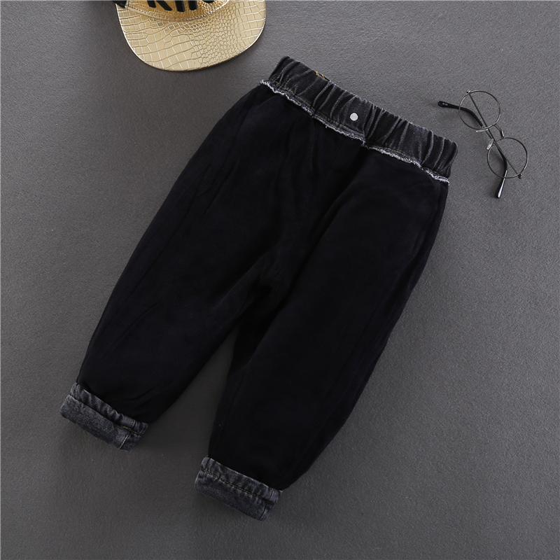 2020 Winter Baby Boys Warm Jeans New Casual Thick Velvet Denim Pants for Boys 2-6 Years Children's Thickening Jeans Trousers 3