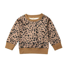 Pudcoco/Новые модные повседневные леопардовые топы для маленьких девочек; футболка; осенне-зимний свитер; пуловер