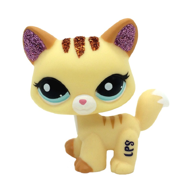 Rare LPS Pet Shop Toy Shorthair Cat, Great Dane Brown, Removable Doll Collect Children's Toys LPS Various Children's Gifts