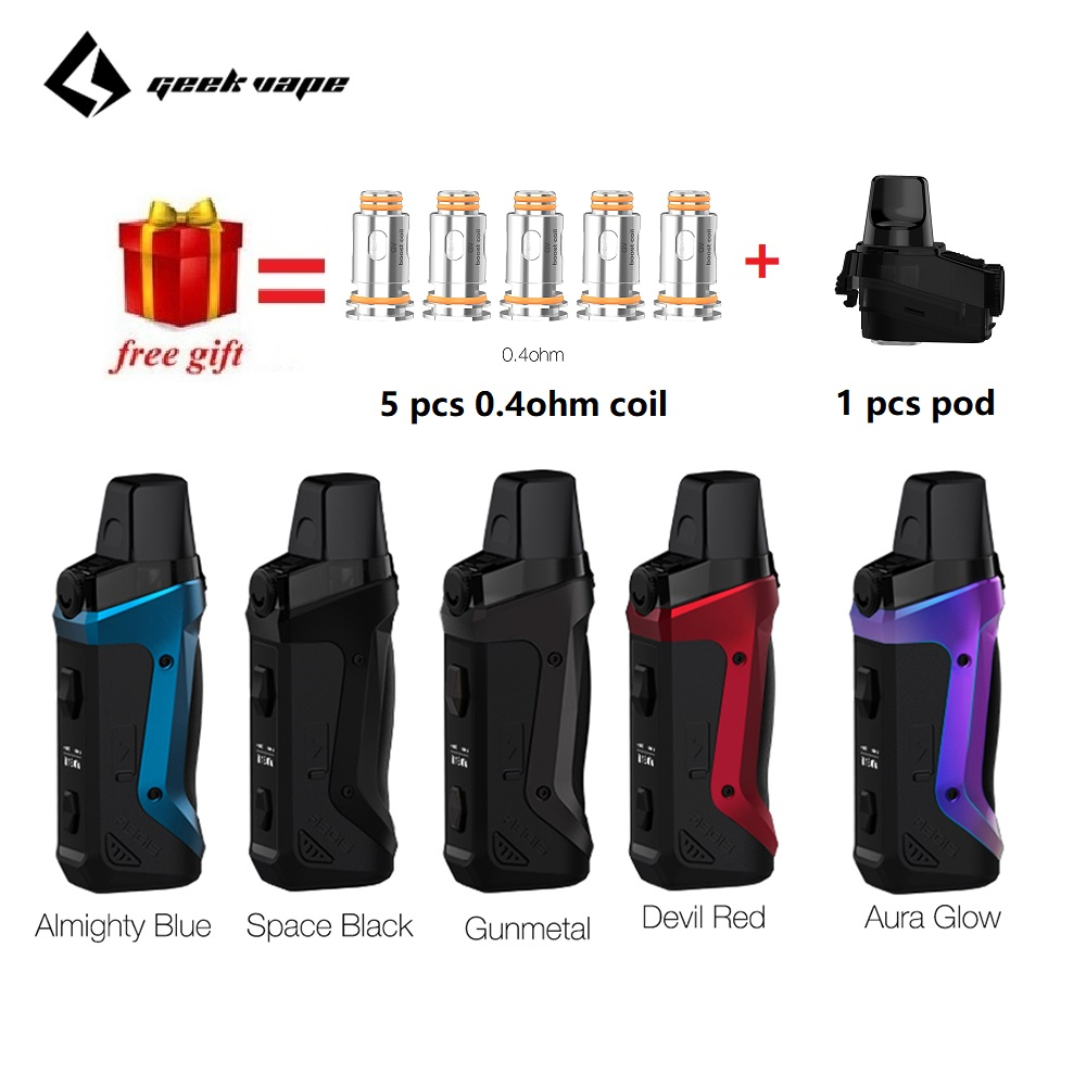 Free Gift !!! Geekvape Aegis Boost Pod Vape Kit W/ 1500mah Built-in Battery & 3ML Atomizer MTL DTL E-cig Vape Kit Vs Vinci