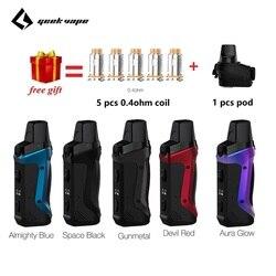 Presente grátis!! Geekvape aegis boost pod vape kit com 1500mah bateria embutida & 3 ml atomizador mtl dtl e-cig vape kit vs vinci