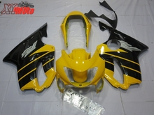 New ABS Fairing Kit For Honda CBR600F F4 1999-2000 Injection Motorcycle plastics 99-00 Yellow Black Bodyworks
