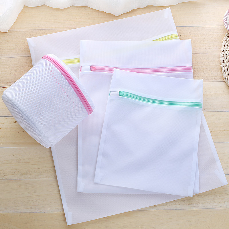 Auto Locked Zipper Coarse Mesh Laundry Bag Multicolor Zip Fine Net Washing Bag Coat Household Shoe Bra Delicate Clothes Saver