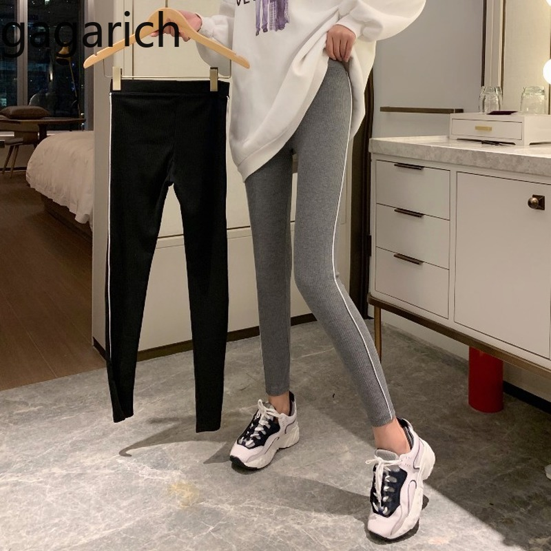 Gagarich Womem Leggings 2020 Spring Casual High Waist Slim Stretch Ladies Long Pants Korean Chic Female Outwear  Trousers