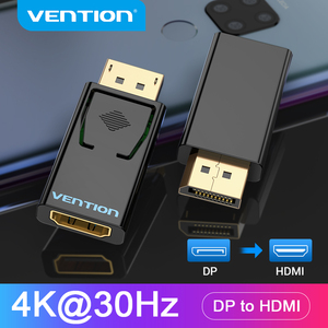 Vention DP to HDMI Adapter 4K DP Male to HDMI Female Video Audio Converter for PC Laptop Projector Display Port to HDMI Adapter