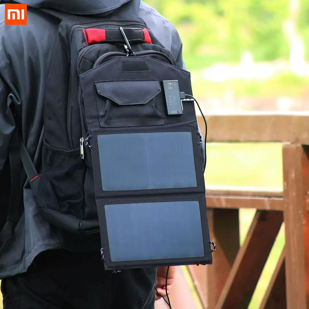 Xiaomi YEUX Solar Board Solar Charger Foldable Solar Panel Cells 5V Portable Solar Mobile Battery for Traveling Camping Hiking Batteries  - AliExpress
