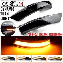 Dynamiczny migacz dla Ford Focus 2 MK2 Focus 3 MK3 3.5 Mondeo MK4 kierunkowskaz LED płynące światło lustrzane Repeater migacz