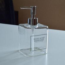 400Ml Glas Dispenser Lotion Pomp Zeepdispenser Bad Hervulbare Sanitizer Wassen Hand Shampoo Druk Fles Badkamer Container