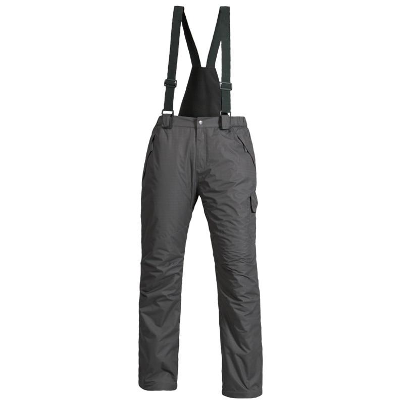 2019 New Outdoor Sports Fleece Men Ski Pants Suspenders Windproof Waterproof Warm Thicken Winter Snow Snowboard Trousers