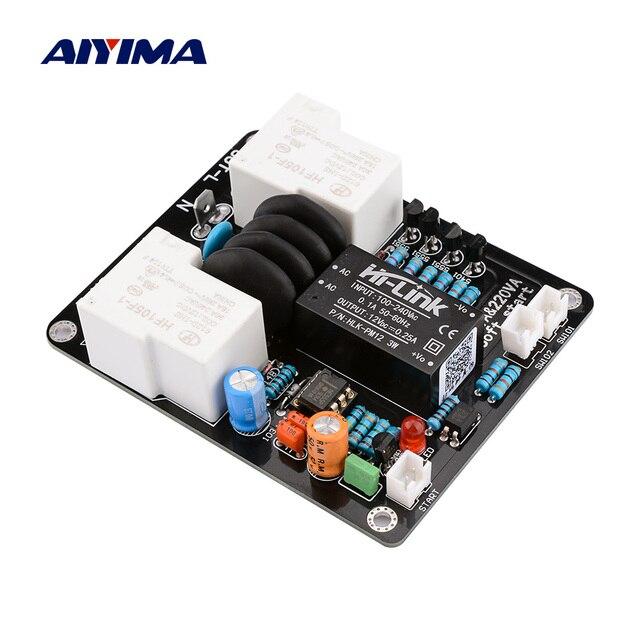 AIYIMA 2000W High Power Soft Start Board 30A Dual Temperatuur Schakelaar Vertraagde Start Board Voor Versterker Amp DIY