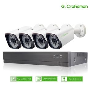 Image 1 - XM Face Detection 4CH 1080P POE IP Camera System Kits Waterproof  CCTV Security Video Surveillance H.265+ XMEye AI G.Craftsman