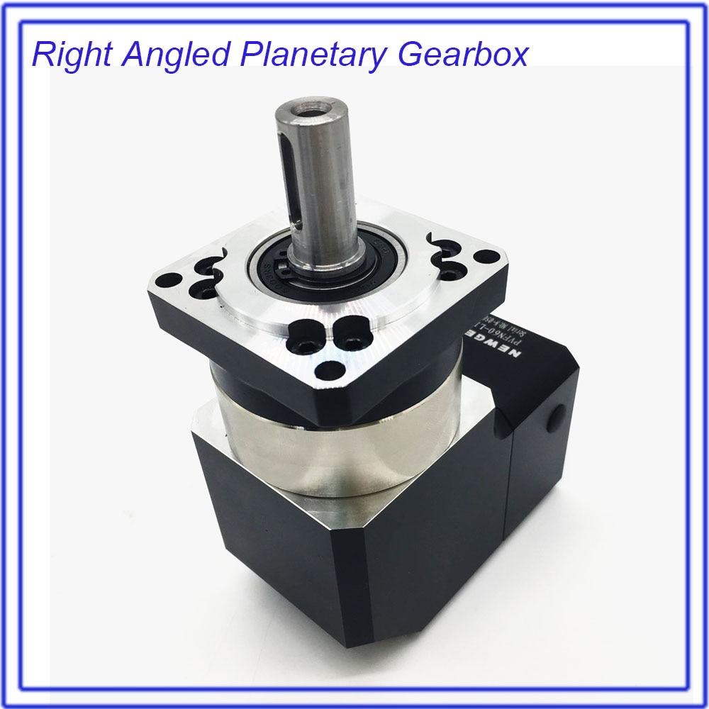 Turn 90Degree Gearbox 40 :1 Corner Right Angled Planetary Reducer  Reversing  Reducer for NEMA24 60mm 200W 400W 600W Servo Motor