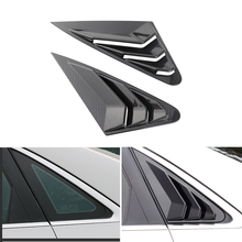 цена на Car Styling Carbon Fiber Texture Exterior Rear Window Triangle Shutters Panel Cover Trim For Audi A4L A4 B9 2017 2018 2019
